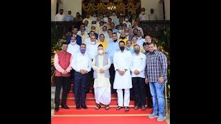 30.07.2021: Governor Koshyari felicitates 27 Jain Sanghas for their work during COVID pandemic;?>