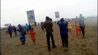 ঝড়ের পূর্ব মুহূর্তে কক্সবাজার বিচের অবস্থা   কক্সবাজার দর্শনীয় স্থান   Cox's Bazar Sugandha Beach