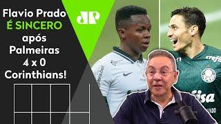 Flavio Prado é sincero após 4 a 0 do Palmeiras: 'Eu achava o Corinthians favorito'