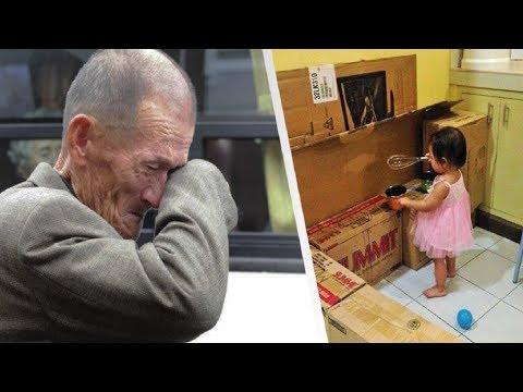 Sie hatte kein Geschenk für ihre Tochter, schaut was sie mit diesen Pappkartons tat!