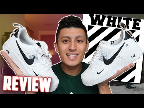 Nike Air Force 1 Low UTILITY REVIEW! (Off-White Inspired?)
