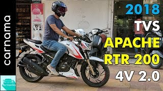 2018 TVS Apache RTR 200 4v Race Edition 2.0 (With Slipper Clutch) Overview | Carnama