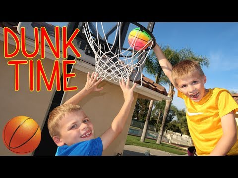 SLAM DUNK!! Mini NBA Finals! Basketball Challenge Chris, Zac & David