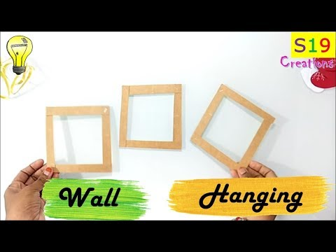 Easy Wall Hanging Idea From Waste Material Best Out Of Waste