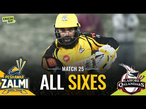 Match 25: Peshawar Zalmi vs Lahore Qalandars | PEL ALL SIXES