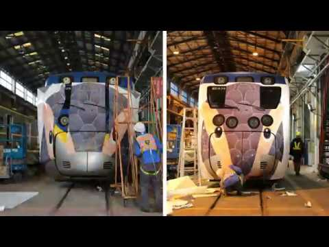 里山動物彩繪列車誕生過程