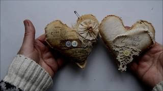 Craft With Me - Grungy Hearts.(Available To Order. )