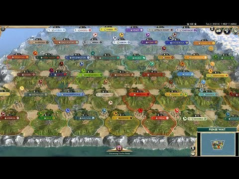 Someone put all 43 civ's on Civ 5 onto a small map. I got an odd amount of enjoyment from watching this.
