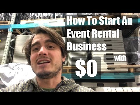 How to Start Event Rental Business - With $0! - Right Now!
