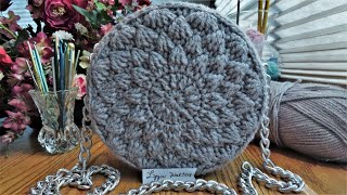 Crochet Lyza Round Bag Part 1 | Step By Step Crochet Bag Tutorial