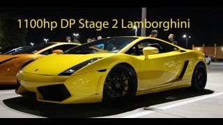 Crazy Video Of A DP 1100hp Lambo Racing A Nissan R35 GT-R And A BMW S1000RR (HD)