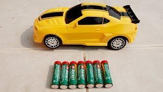 자동차 장난감 변신놀이 Yellow Bumblebee Transformer Car Toy