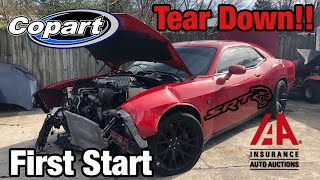 Rebuilding a Wrecked 2015 Dodge Hellcat Part 1