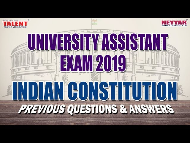 Indian Constitution for University Assistant PQ