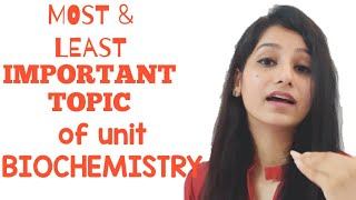 Most and Least  important topics from the unit Biochemistry|UNIT 1||CSIRNET|GATE|IITJAM|DBT|