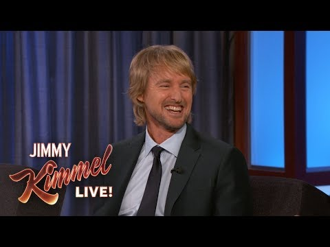 Jimmy Kimmel Gives Owen Wilson a Birthday Gift