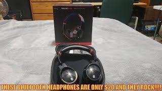 THESE BLUETOOTH HEADPHONES ARE ONLY $20 AND THEY ROCK!!!!