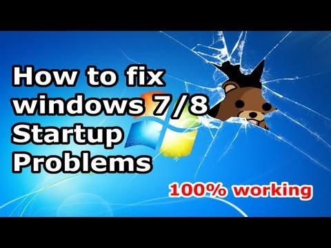 How to Fix Windows 7 / windows 8 / 10 Start-up Problems - Blackscreen - Bootloop [HD]