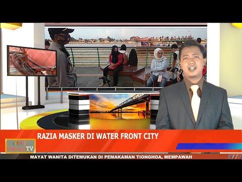Forum Pelopor Kamtibmas Gelar Razia Masker di Kawasan Waterfront City Pontianak