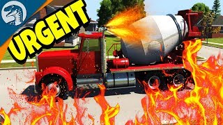 FLAMING SUPERCHARGED CARGO DELIVERY | BeamNG Drive Gameplay