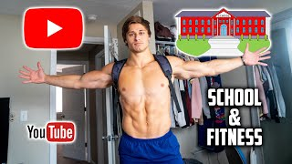 BALANCING SCHOOL, YOUTUBE, FITNESS!? Life As a College YouTuber
