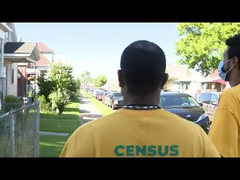 Volunteers canvass neighborhoods to get people to fill out 2020 census