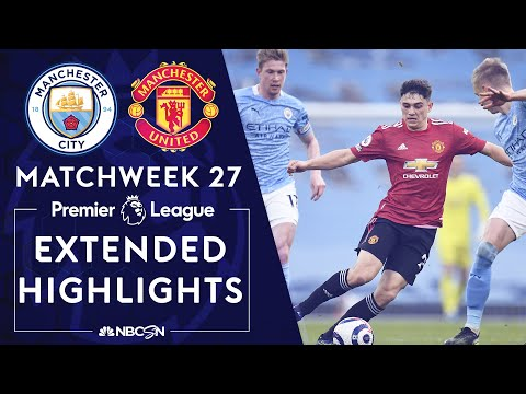 Manchester City v. Manchester United | PREMIER LEAGUE HIGHLIGHTS | 3/7/2021 | NBC Sports