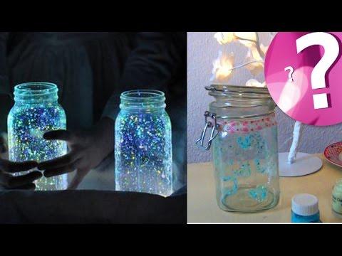 Leuchtender Feenstaub im Einmachglas - Eine magische Lichtquelle
