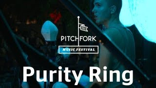 "Purity Ring Perform ""Belispeak"" At Pitchfork Music Festival 2012"