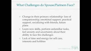 Alzheimer's Disease and Spouse Caregiver Support