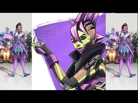 Sombra from Overwatch. Procreate Speedpaind