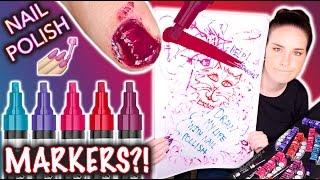 Nail Polish MARKERS?! Don't draw my life
