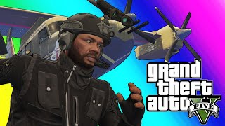 GTA5 Online Funny Moments - New Attack Plane and Roflcopter Sumo!