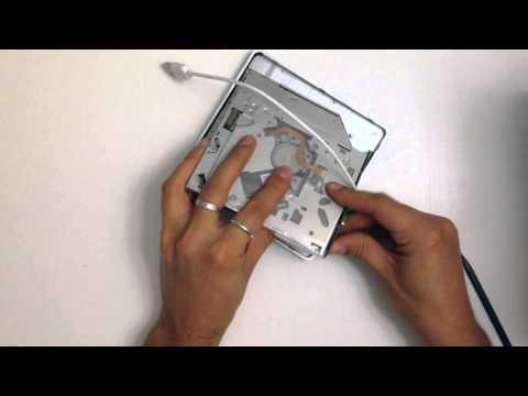 Macbook pro montaggio DVD superdrive su supporto esterno
