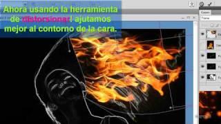 Tutorial Mujer De Fuego Photoshop en Español