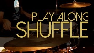 Como tocar shuffle na bateria - Blues Play Alongs