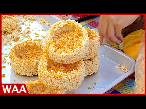 Thai Street Foods Combination - The Most Famous Tom Yum Goong, Crispy Rice Crust with Plam Sugar