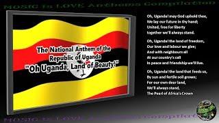 """Uganda National Anthem """"Oh Uganda, Land of Beauty!"""" INSTRUMENTAL with lyrics"""