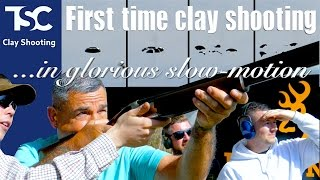 Beginners clay shooting – slow mo