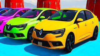 Цветные машинки для малышей #Мультик про цветные машины Renault