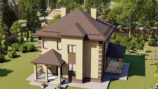 Проект дома 168-A, Площадь дома: 168 м2, Размер дома:  10,5x9,9 м