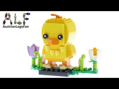 Vidéo LEGO BrickHeadz 40350 : Poussin de Pâques