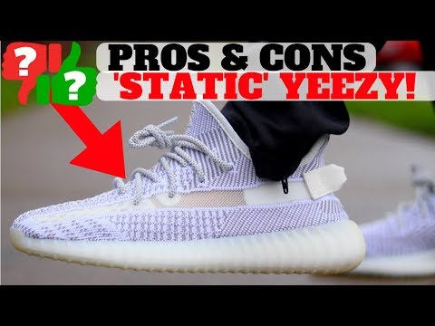 Adidas YEEZY BOOST 350 V2 'STATIC' PROS and CONS Review + On Feet