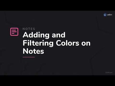 Adding and Filtering Colors on Notes