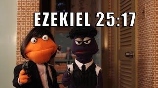 Ezekiel 25 17, Jule's Speech Pulp Fiction Puppet Gangster Filx Parody Remix
