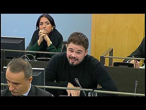 Gabriel Rufián interroga a Federico Trillo por la corrupción del PP
