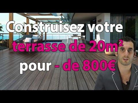 Construire sa terrasse en bois de 20m2 pour moins de 800€