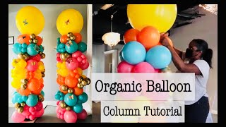 7 Foot Butterfly Themed Organic Balloon Column | Tutorial | DIY