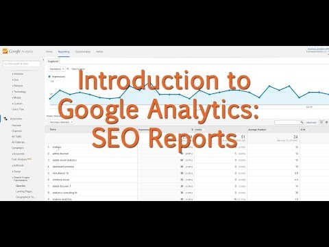 [Tutorial] Google Analytics - SEO Reports