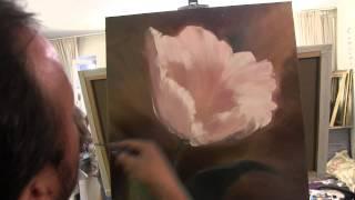 Пишем цветок маслом, уроки для начинающировх, Сахаров